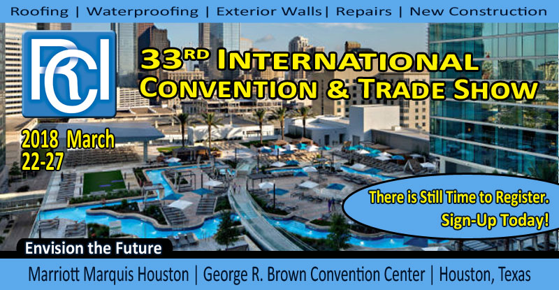 33rd RCI International Convention & Trade Show March 22-27, 2018 | Houston, Texas Marriott Marquis Houston | George R. Brown Convention Center