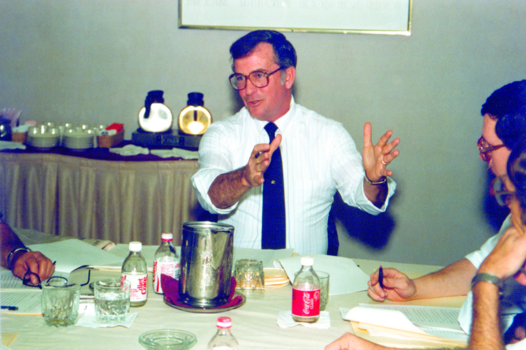 Don Bush, Sr. explains in 1987 to the RCI Board of Directors how the credentialing program will separate the RRCs from the other guys.