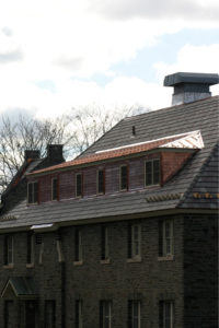Consolidated copper covered dormer windows