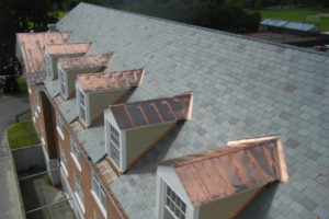 dormer windows with copper roof