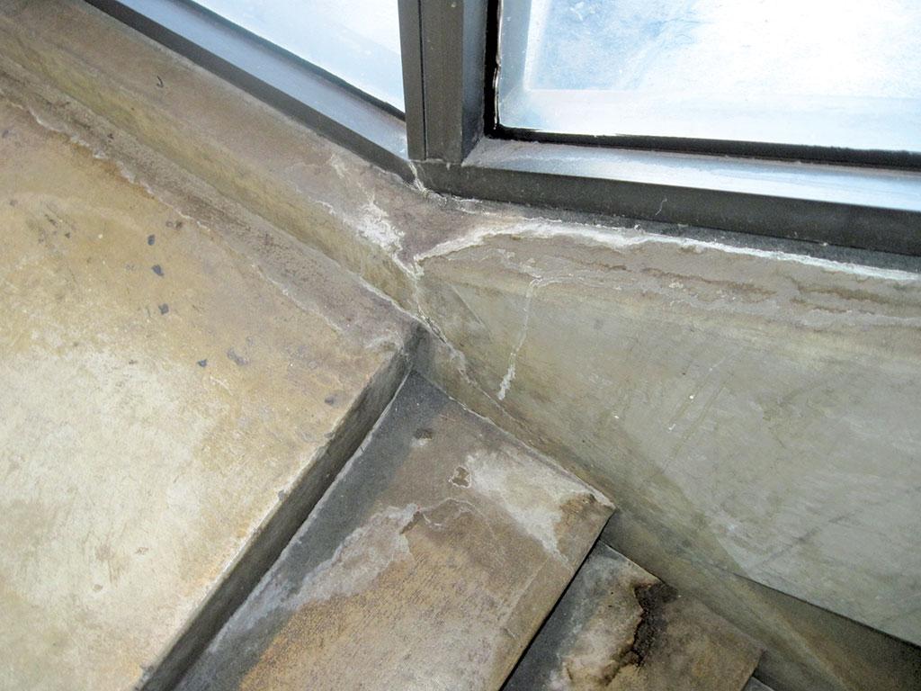 through-wall cracking at window