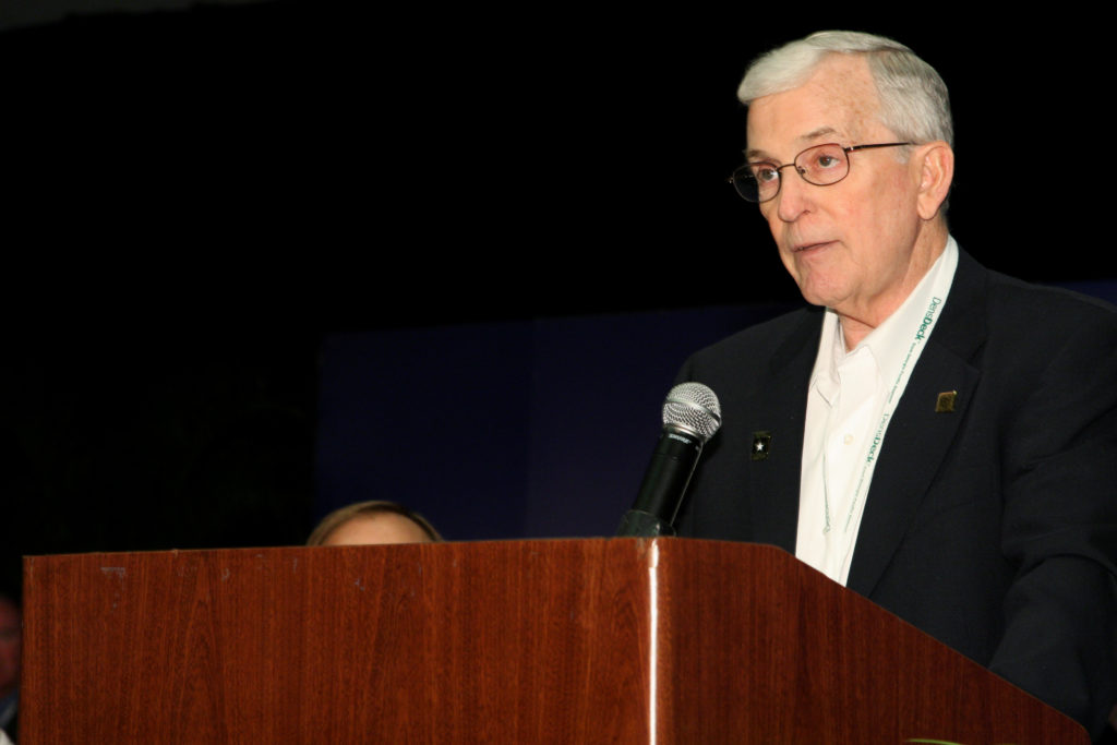 Don Bush announces new RRCs as chairman of the RRC Exam Development Subcommittee at the 2009 convention.