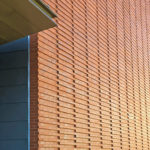 corbeled bricks on Billerica Memorial High School