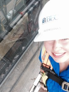 McDonald on a ten story hotel in Maryland performing AAMA 503 water infiltration testing.