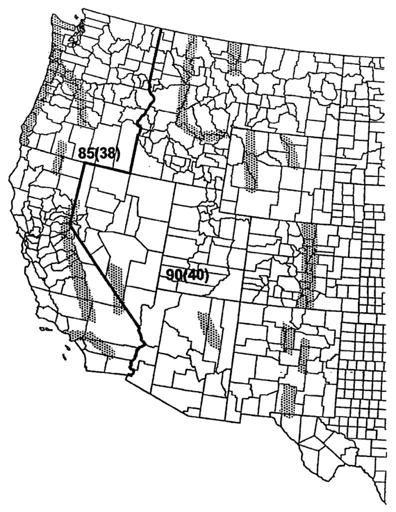 western us map data