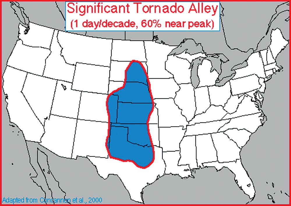 NOAA Tornado Alley Map