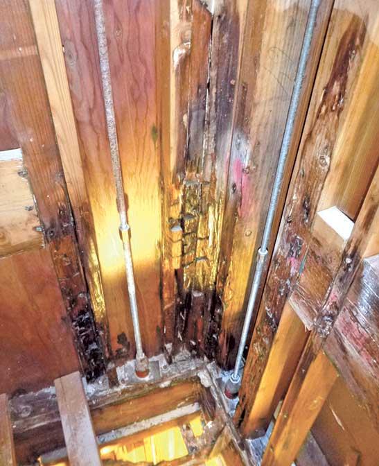 damage to framing
