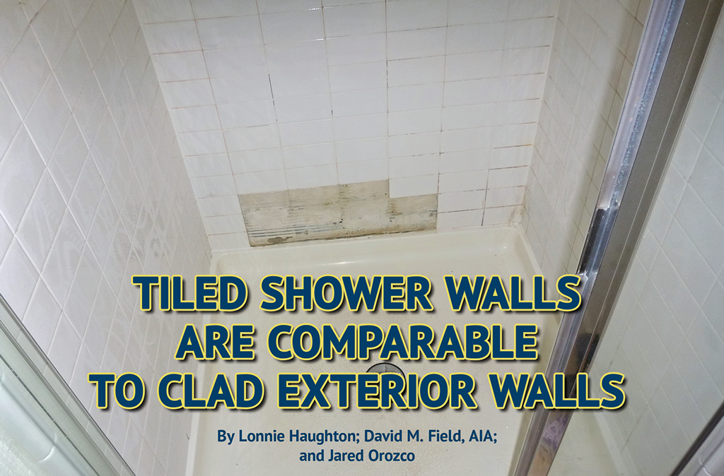 shower with missing tiles