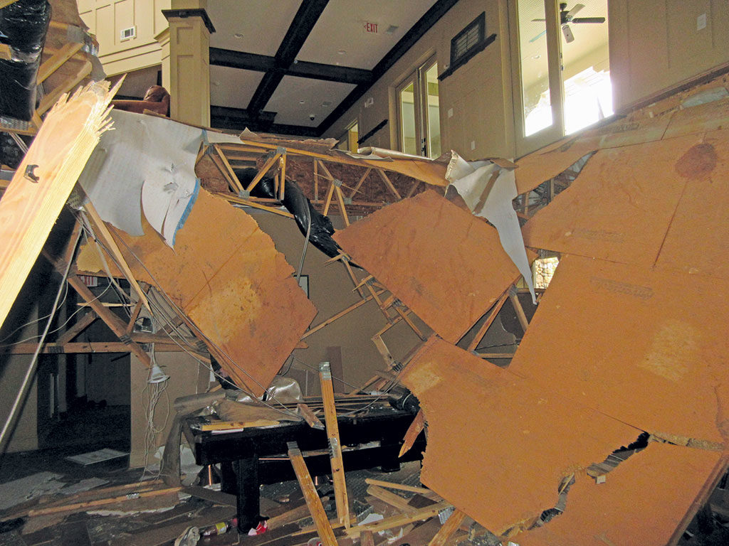 collapsed floor