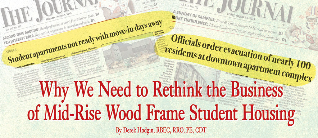 Why We Need to Rethink the Business of Mid-Rise Wood Frame Student Housing