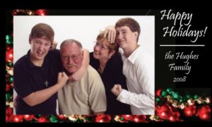 The Hughes family holiday card in 2008