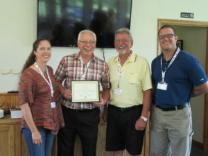 John Jordon of FiberTite receives plaque