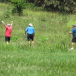 Three golfers