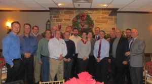 Delaware Valley chapter members gather at the Stone Terrace Restaurant for the annual meeting and holiday party.