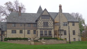 Western side of house