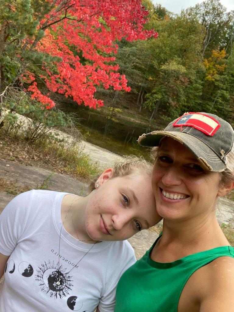 Keegan and daughter Peyton