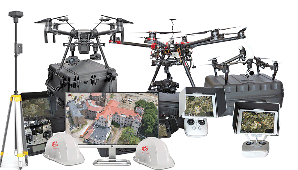 Various components of a UAS.