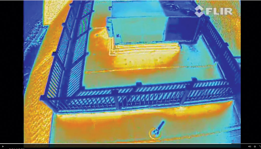 thermal image of HVAC system