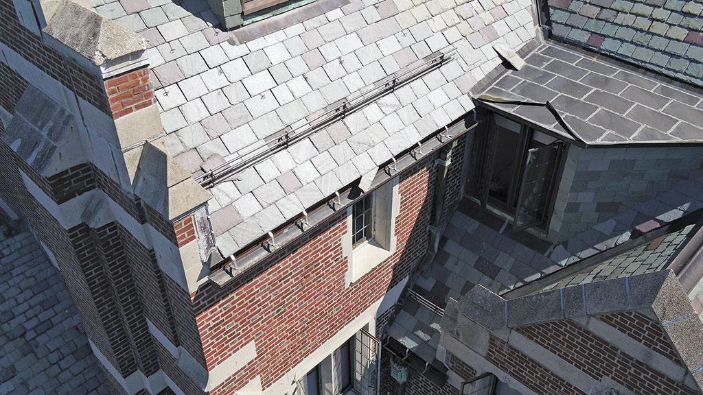 sloped slate roofs