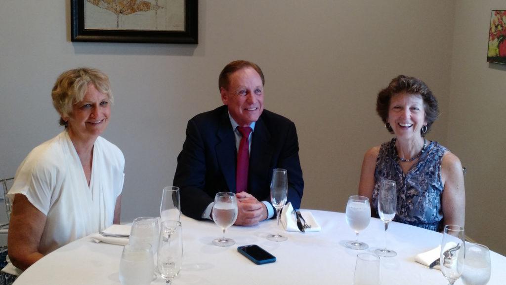 Kris Ammerman, James R. Birdsong, and Micki Kamszik at celebratory luncheon.