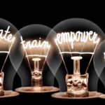 train empower in light bulbs